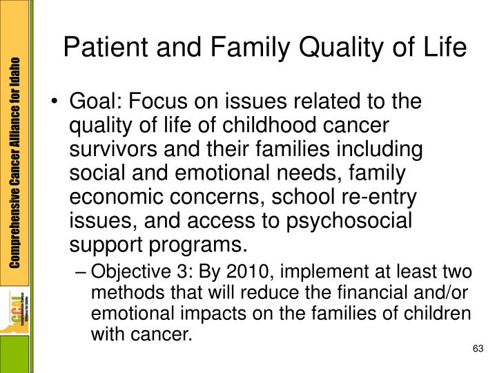 Patient and Family Quality of Life