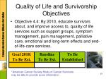 quality of life and survivorship objectives3
