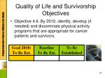 quality of life and survivorship objectives5