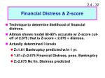 financial distress z score
