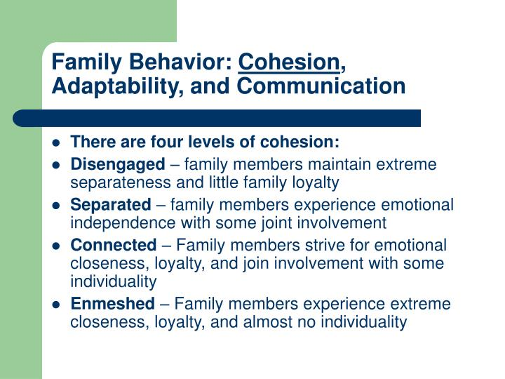 Family Behavior: