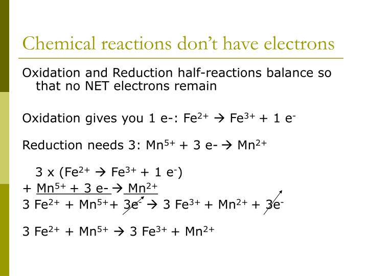 Chemical reactions don't have electrons