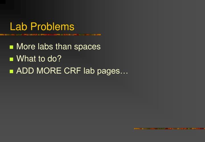 Lab Problems