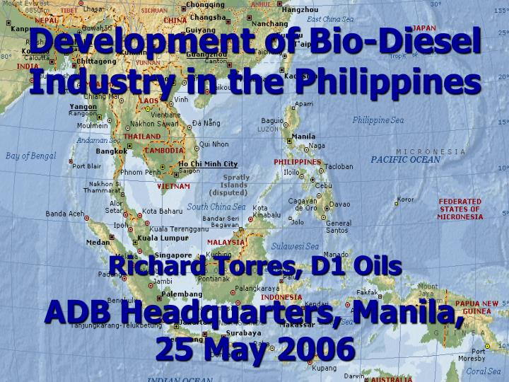 development of bio diesel industry in the philippines