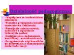 dzia alno pedagogiczna