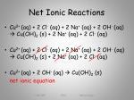 net ionic reactions