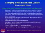 changing a well entrenched culture how to change culture1
