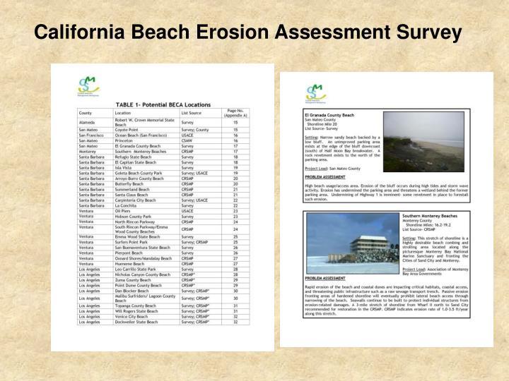 California Beach Erosion Assessment Survey