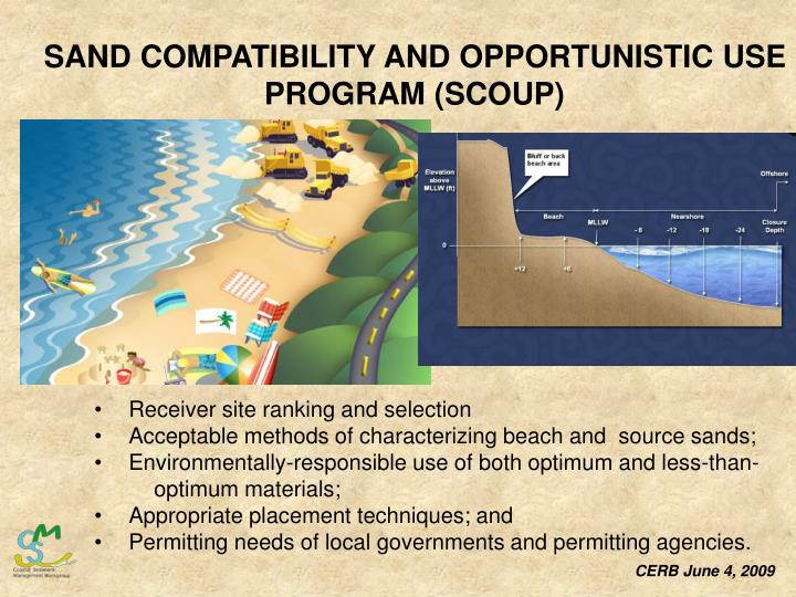 SAND COMPATIBILITY AND OPPORTUNISTIC USE PROGRAM (SCOUP)