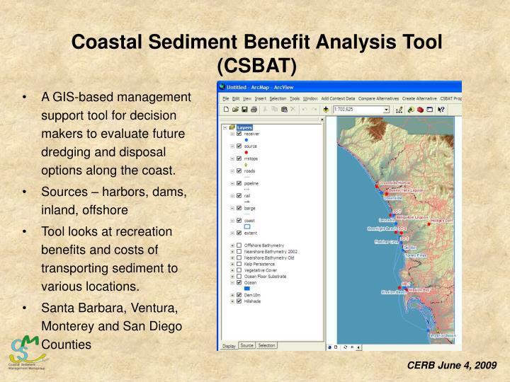 Coastal Sediment Benefit Analysis Tool (CSBAT)