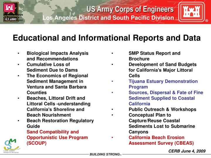 Educational and Informational Reports and Data