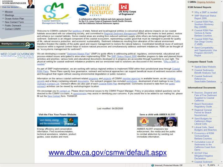 www.dbw.ca.gov/csmw/default.aspx
