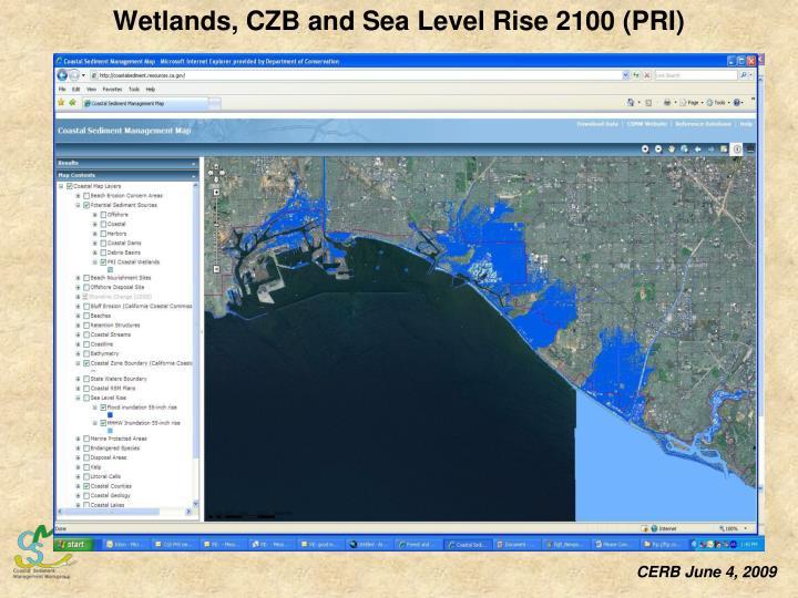 Wetlands, CZB and Sea Level Rise 2100 (PRI)