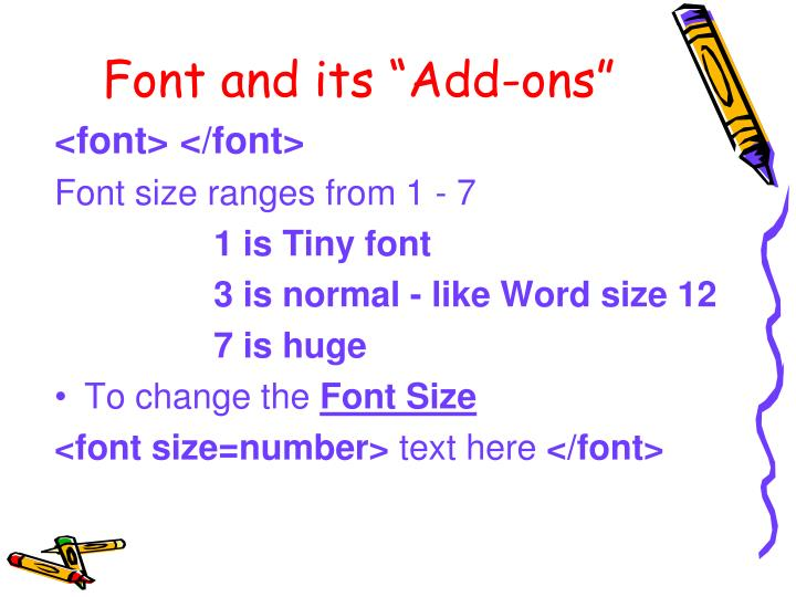 "Font and its ""Add-ons"""