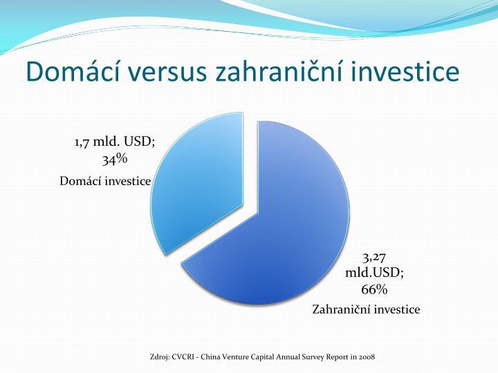 Domácí versus zahraniční investice