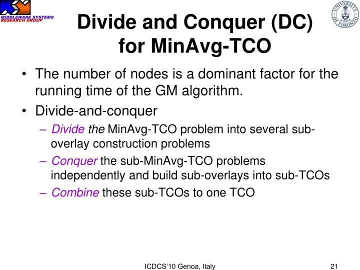 Divide and Conquer (DC)