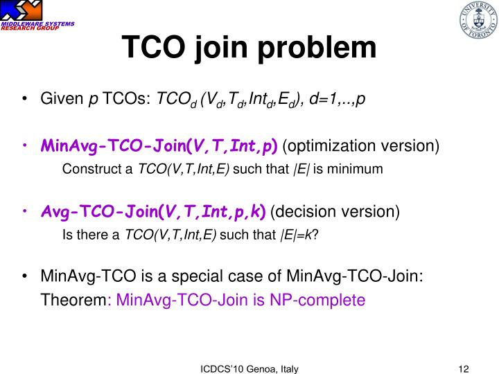 TCO join problem