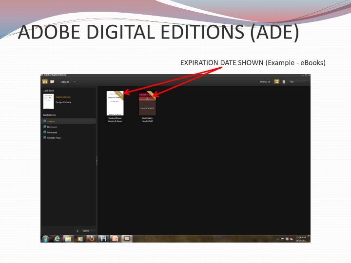 ADOBE DIGITAL EDITIONS (ADE)