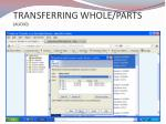 transferring whole parts audio