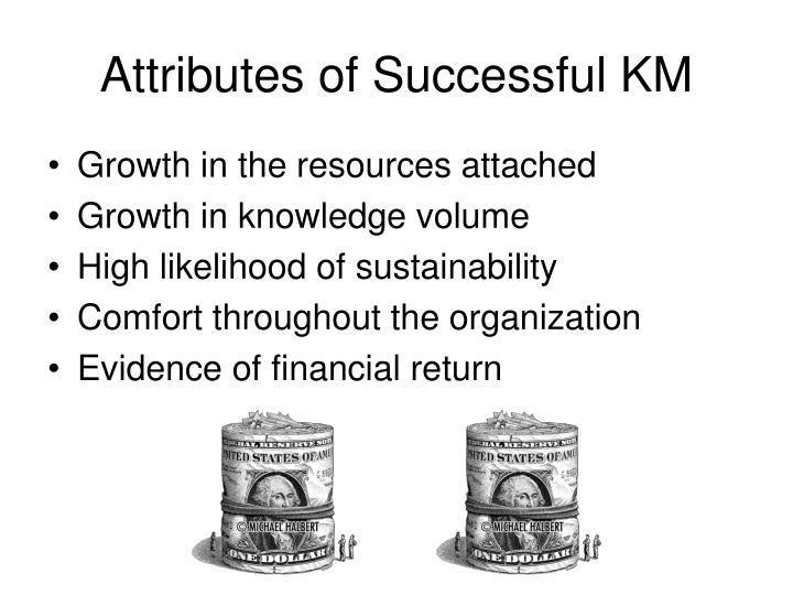 Attributes of Successful KM