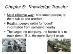 chapter 5 knowledge transfer