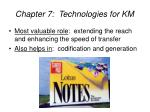 chapter 7 technologies for km