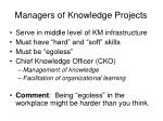 managers of knowledge projects