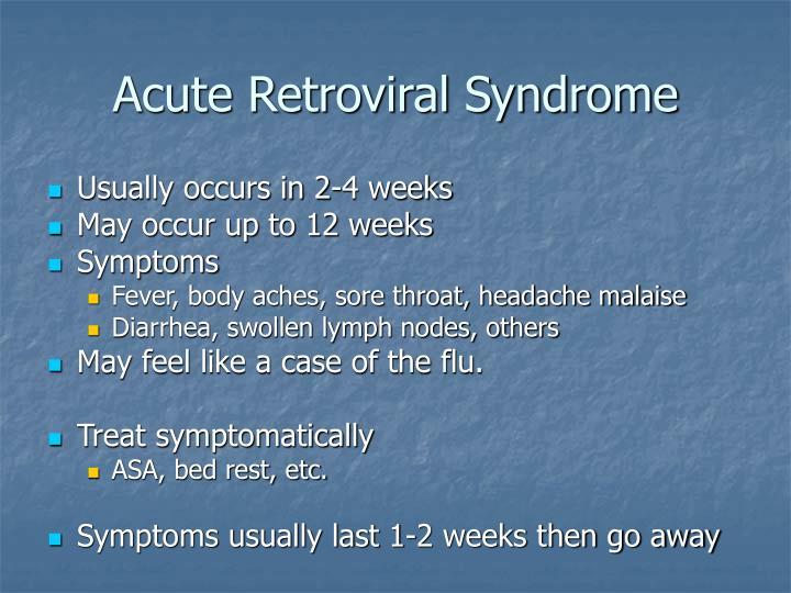 Acute Retroviral Syndrome