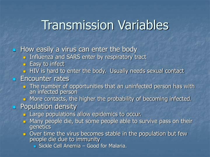Transmission Variables