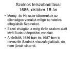 szolnok felszabad t sa 1685 okt ber 18 n