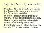 objective data lymph nodes