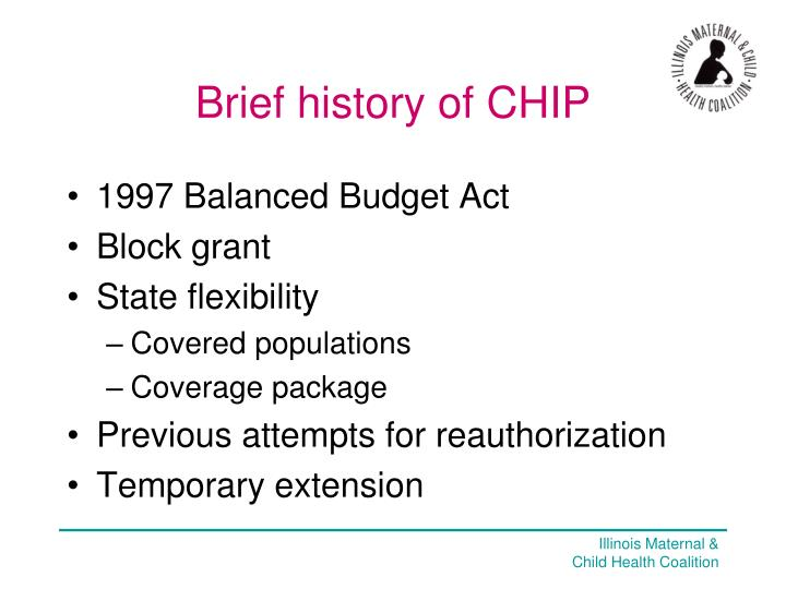 Brief history of CHIP