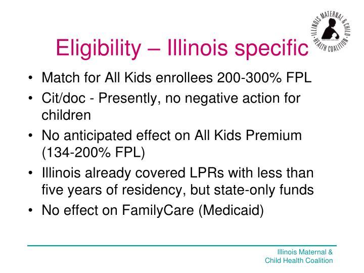 Eligibility – Illinois specific