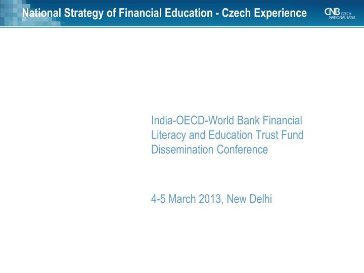 national strategy of financial education czech experience