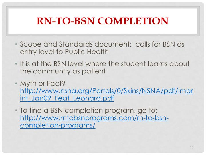 RN-To-BSN Completion
