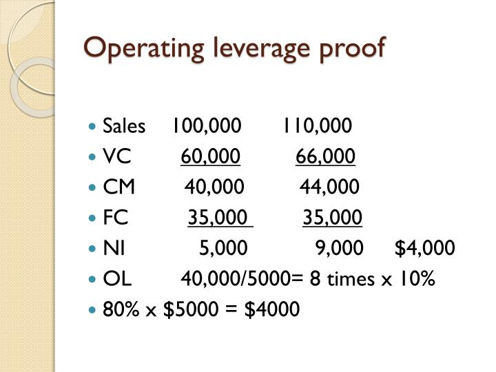 Operating leverage proof