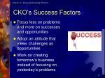 cko s success factors