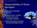 responsibilities of smart managers