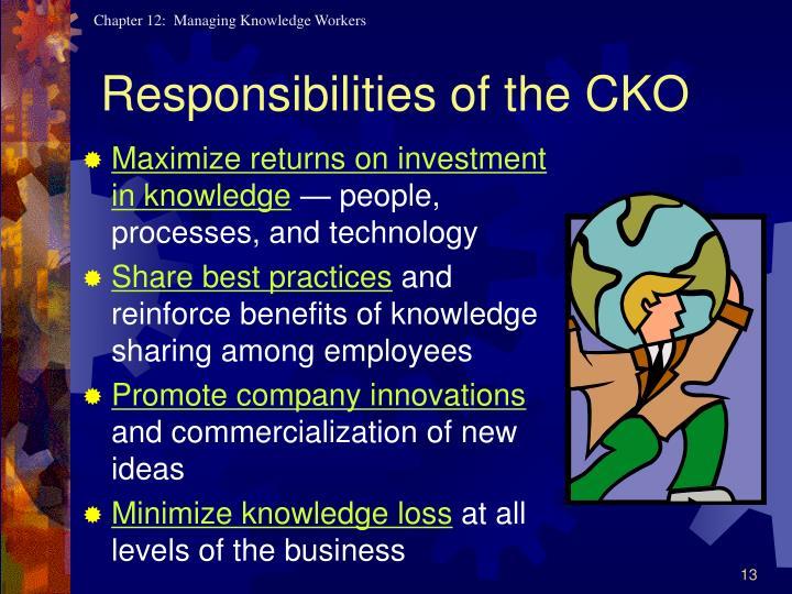 Responsibilities of the CKO