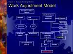 work adjustment model