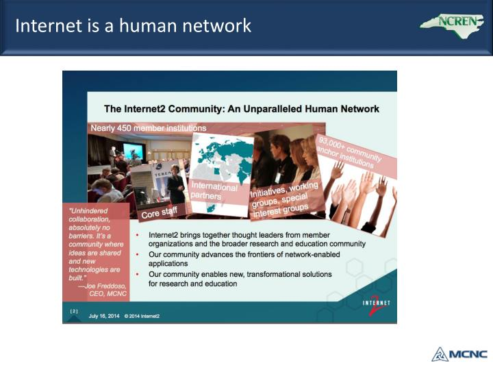 Internet is a human network
