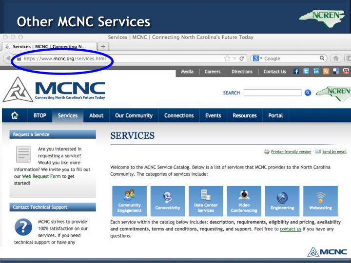 Other MCNC Services