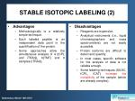 stable isotopic labeling 2