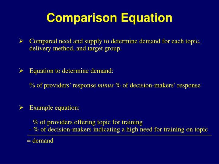 Comparison Equation