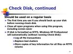 check disk continued1