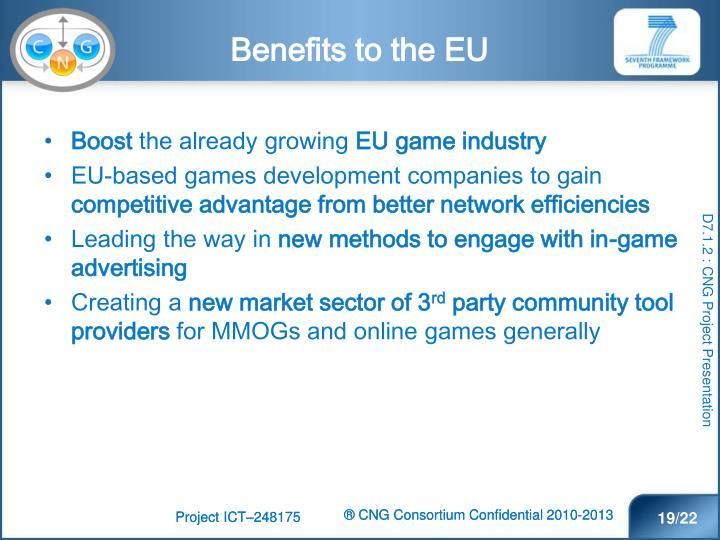 Benefits to the EU
