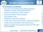 benefits to the industry 1 2
