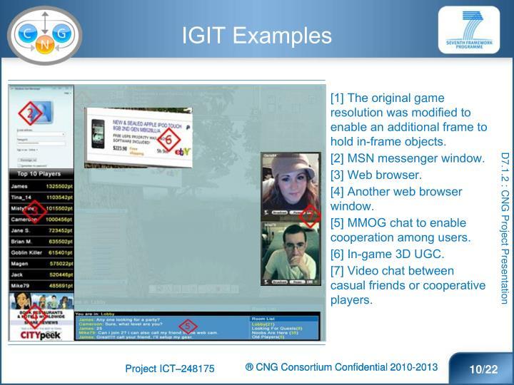 IGIT Examples