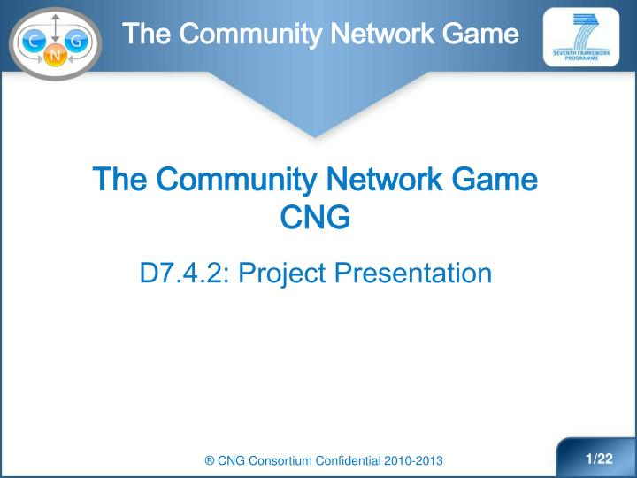 The Community Network Game