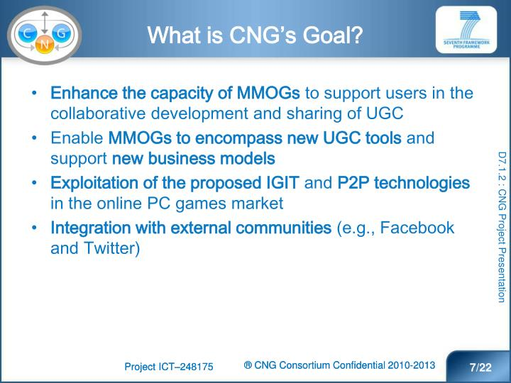 What is CNG's Goal?